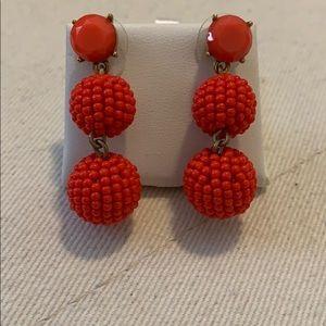 J. Crew Red Earrings!